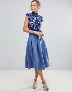 Кружевное платье для выпускного ASOS - Синий