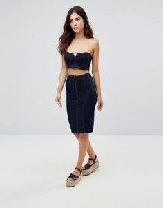 Джинсовая юбка-карандаш Parisian - Темно-синий