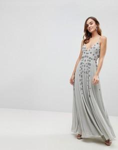 Платье макси на бретельках ASOS - Серый