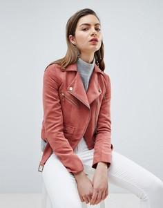 Байкерская куртка из искусственной замши Ivyrevel - Розовый
