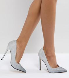 Блестящие туфли на каблуке Steve Madden Wicket - Серебряный