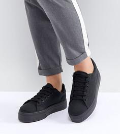 Кроссовки для широкой стопы на шнуровке ASOS DESIGN Day Light - Черный