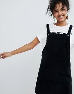 Вельветовый сарафан с карманом New Look - Черный