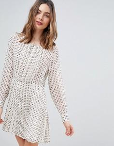Свободное платье с принтом Deby Debo Jane - Белый