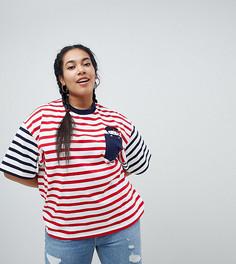 Oversize-футболка с вышивкой Hello Kitty x ASOS CURVE - Мульти
