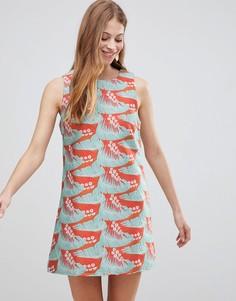 Жаккардовое платье А-силуэта Glamorous - Красный