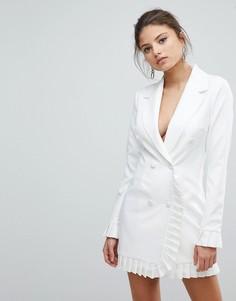 Платье-блейзер с плиссировкой Missguided - Белый