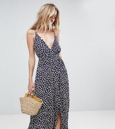 Эксклюзивное платье макси с цветочным принтом Faithfull - Коричневый