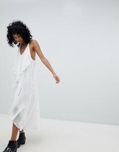 Платье макси с пайетками Religion - Белый