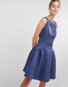 Платье для выпускного с отделкой Little Mistress - Серый
