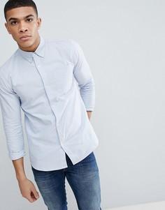 Оксфордская рубашка с длинными рукавами D-Struct - Синий