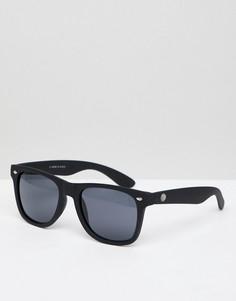 Черные квадратные солнцезащитные очки River Island - Черный