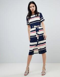 Платье миди в полоску с ремнем Sugarhill Boutique Heidi - Мульти