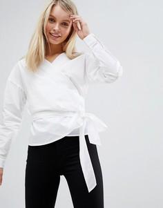 Блузка с запахом Only - Белый