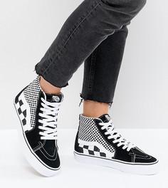 Высокие кроссовки в клетку Vans Sk8 - Черный