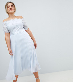 Платье макси с кружевом Coast Plus Imi - Синий