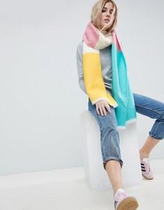 Мягкий длинный шарф в стиле колор блок ASOS - Мульти