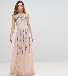 Декорированное платье макси Frock And Frill Premium - Розовый