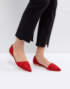 Красные туфли на плоской подошве из двух частей RAID Cate - Красный