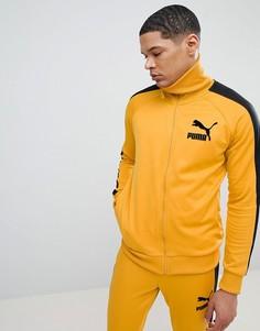 Желтая спортивная куртка в винтажном стиле Puma T7 57498548 - Желтый
