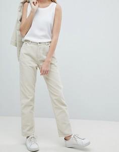 Вельветовые джинсы с завышенной талией Dr Denim Pepper - Бежевый