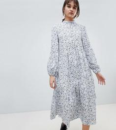 Свободное платье миди с открытой спиной Reclaimed Vintage Inspired - Белый