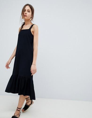 Летнее платье миди ASOS DESIGN - Черный