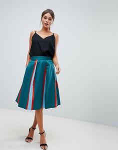 Плиссированная юбка в полоску Closet - Мульти