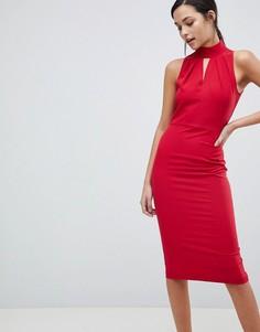 Платье с халтером Closet - Красный