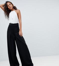 Широкие брюки со складками Missguided Tall - Черный