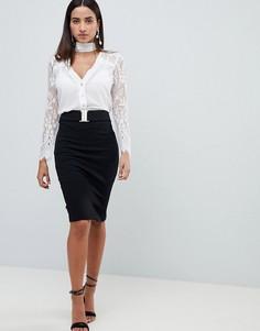 Черная юбка-карандаш Lipsy - Мульти