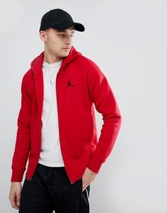 Худи красного цвета на молнии Nike Jordan Flight 823064-687 - Красный