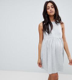 Свободное платье без рукавов и с пуговицами ASOS DESIGN Maternity - Серый