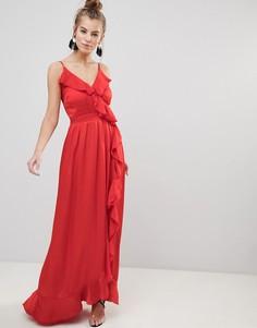 Красное платье макси Little Mistress - Красный