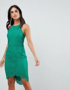 Кружевное платье с юбкой годе Adelyn Rae Louise - Зеленый