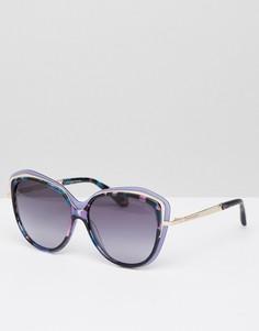 Синие солнцезащитные очки кошачий глаз Christian Lacroix - Синий