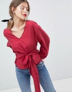 Блузка с поясом Vila - Красный