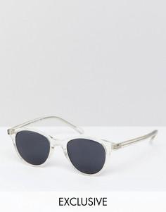 Круглые солнцезащитные очки Reclaimed Vintage эксклюзивно для ASOS - Очистить