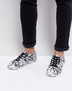 Кроссовки на шнуровке с принтом в стиле граффити ASOS - Белый