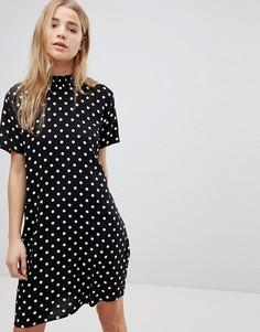 Свободное платье в горошек JDY - Мульти