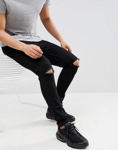 Рваные супероблегающие джинсы Ringspun - Черный