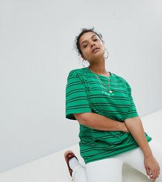Зеленая футболка в полоску Puma эксклюзивно для ASOS - Зеленый