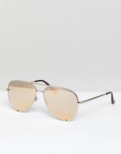Золотистые солнцезащитные очки-авиаторы Quay Australia X Desi Perkins - Золотой