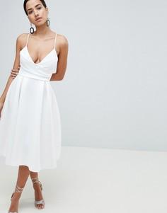 Платье миди для выпускного ASOS DESIGN - Белый