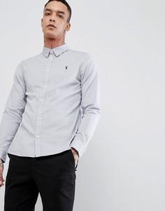 Поплиновая рубашка с длинными рукавами AllSaints - Серый