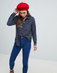 Рубашка с принтом Yumi - Темно-синий