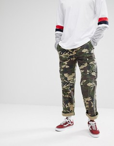 Свободные брюки-карго с камуфляжным принтом Dickies New York - Зеленый