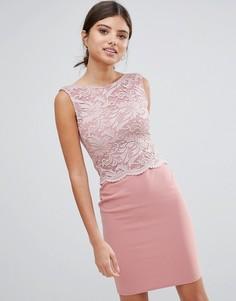 Платье миди с кружевным лифом Girls on Film - Розовый