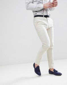 Супероблегающие брюки скинни ASOS Wedding - Светло-бежевый