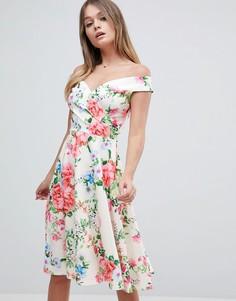 Платье для выпускного с цветочным принтом Jessica Wright - Мульти